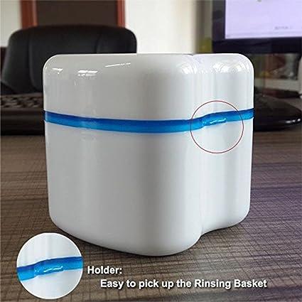 Denture Funda Denture Cepillo retenedor de caso caja de almacenamiento de estilo europeo baño aparato dentadura