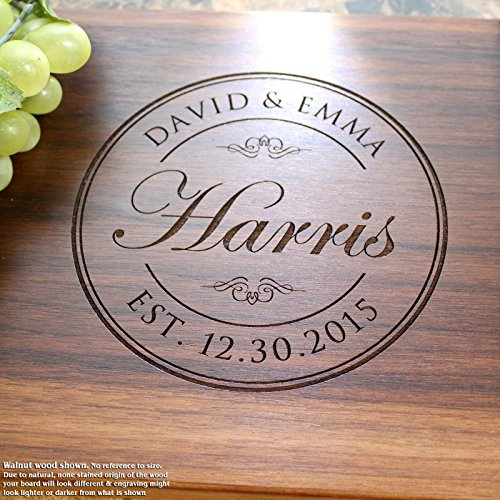 Board, Custom Keepsake, Engraved Serving Cheese Plate, Wedding, Anniversary, Engagement, Housewarming, Birthday, Corporate, Closing Gift #001 ()