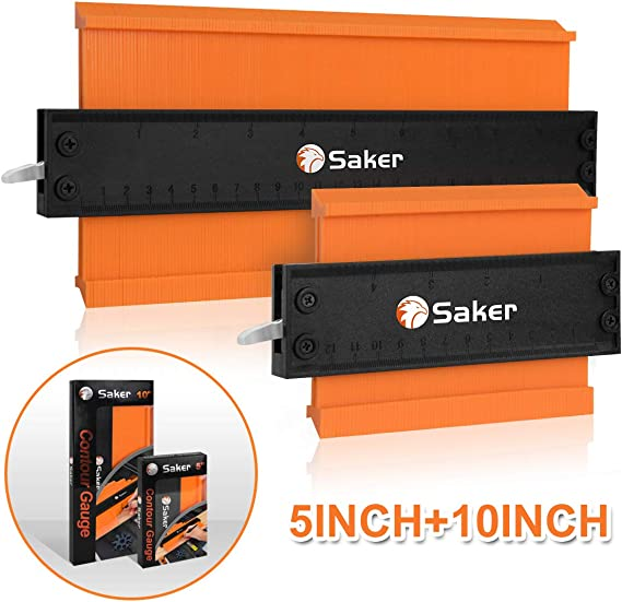 USA 10in+5in Set Saker Contour Gauge Profile Tool Mark and Cut Any Shape