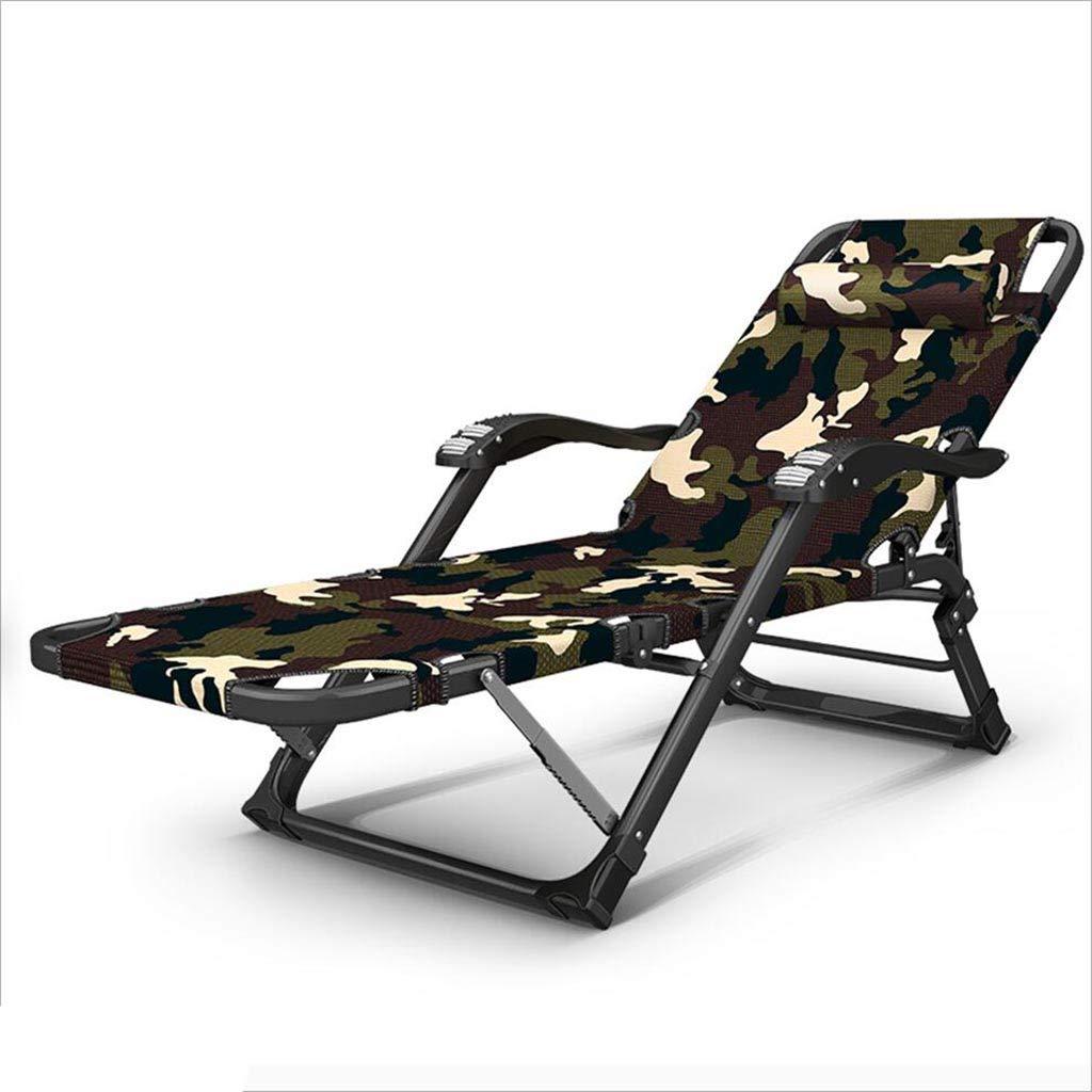 QZ HOME Stühle, Moderner Minimalismus Graues Grün Camouflage Tuch Kann Falten Gestapelt Massage Armlehnen Siesta Liegestuhl (Farbe : 2)