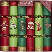 Toy Chest Luxury English Holiday Crackers - Set of Six