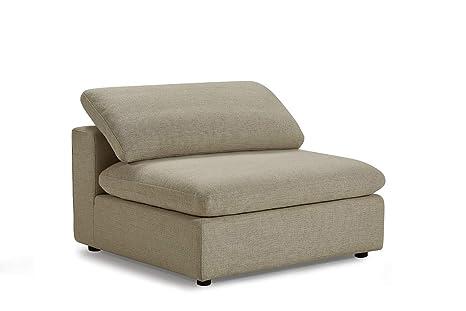 Meubletmoi Nuage - Módulo de sofá de Tejido Beige con ...