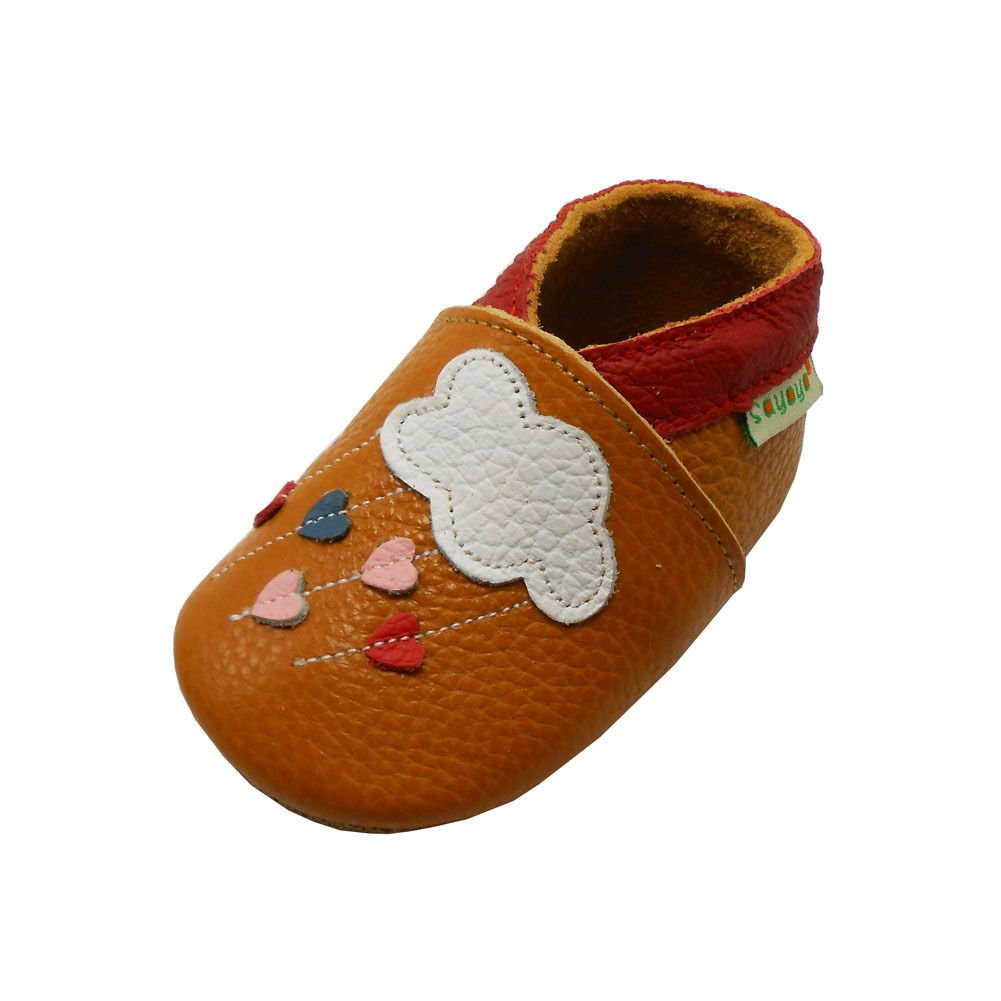 Sayoyo Baby Infant Toddler Soft Sole Leather Crib Shoes Bai Shu A1029-2