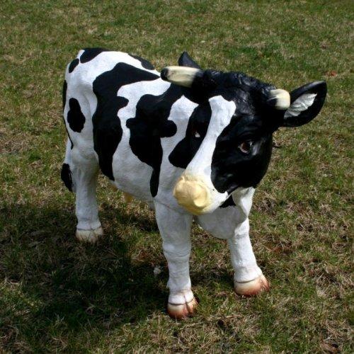Kuh Deko Figur XL lebensecht 62 cm