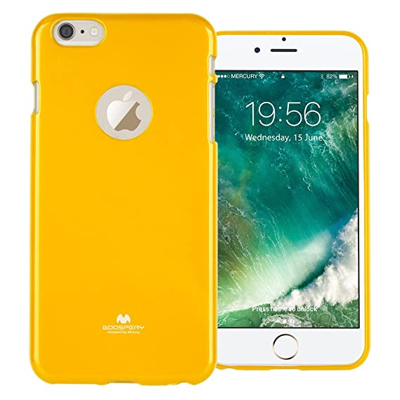 quality design f4f1b 77869 GOOSPERY Marlang Marlang iPhone 6 Plus/6S Plus Case - Yellow, Free Screen  Protector [Slim Fit] TPU Case [Flexible] Pearl Jelly [Protection] Bumper ...