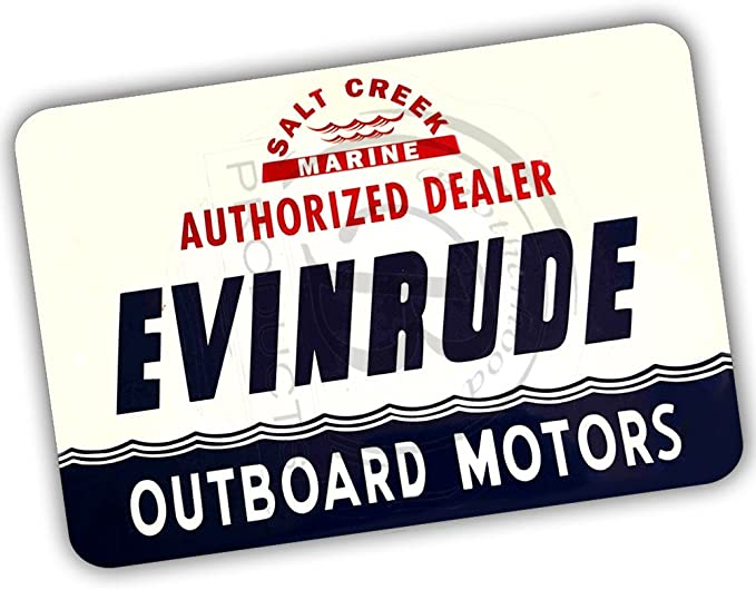 Amazon Com Brotherhood Evinrude Outboard Motors Authorized Dealer Reproduction 8x12 Metal Sign Sports Outdoors
