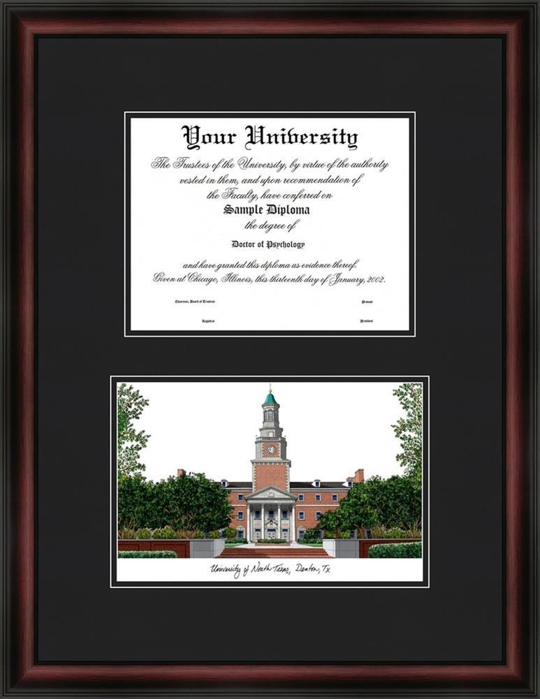 Amazon.com : University of North Texas Diploma Frame & Lithograph ...