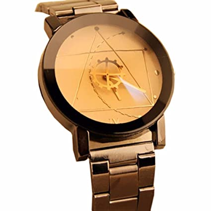 Amsion Marea aguja de la brújula reloj de las mujeres Acero inoxidable Moda  cuarzo analógico reloj 0c67c9d7f6c8