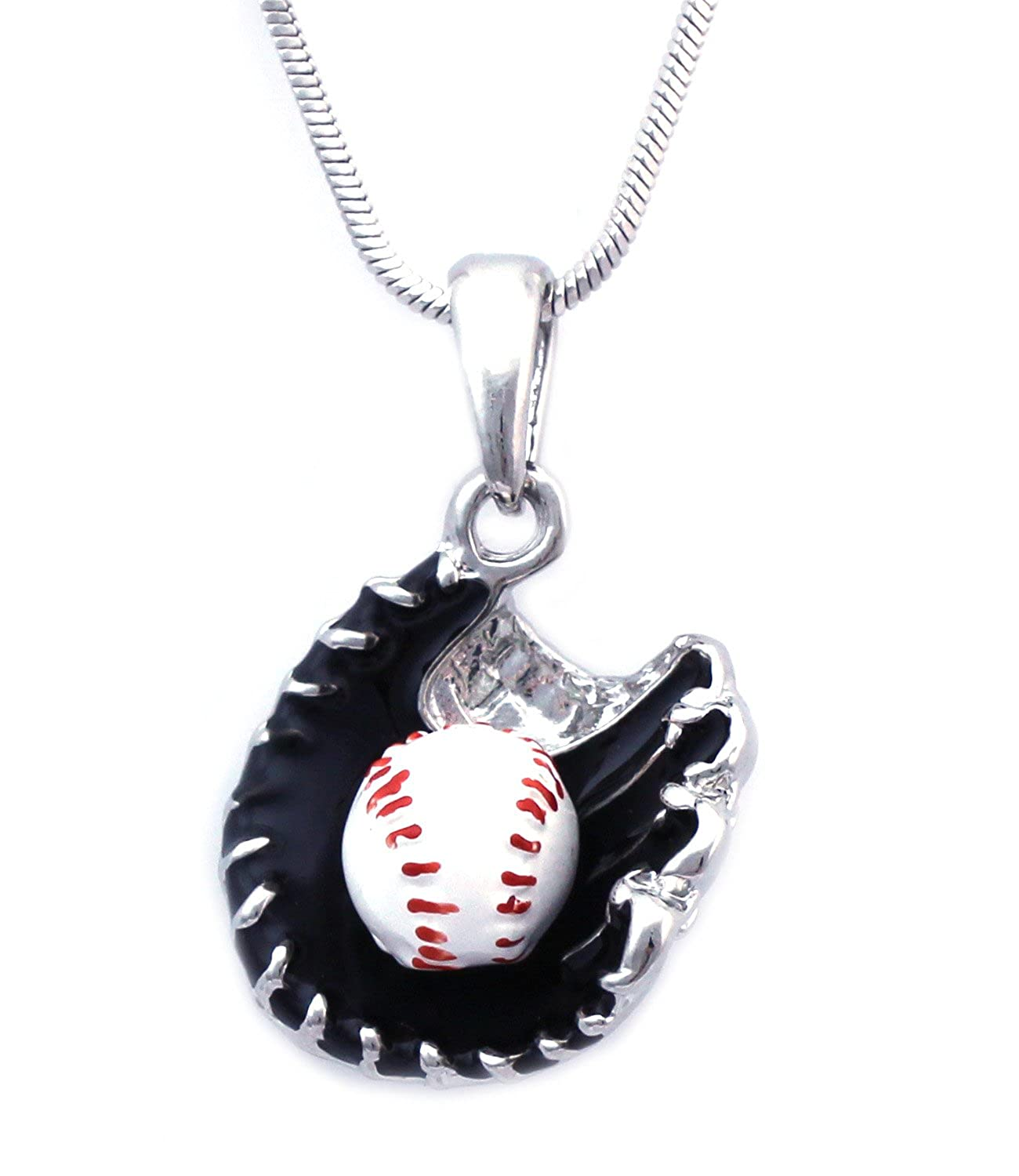 pendant jewellery mens fancy baseball pitcher necklace script ksvhs theme silver