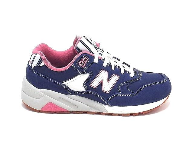 New Balance scarpa donna, modello WRT580RH, sneaker in nabuk e nylon, colore  blu: Amazon.it: Scarpe e borse