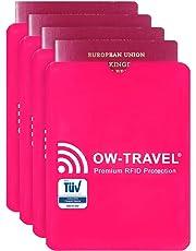 ✅ Custodie Blocco RFID - ANTI FRODE - La Protezione di Carte di Credito/Debito e di Identità per Portafogli Passaporto - Isolamento Chip Contactless RFID e Radio NFC - Alluminio