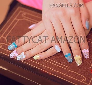 Amazon com : MIX COLORS FASHION JAPANESE 3D NAIL ART 24 nails Sold