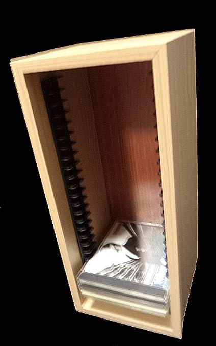 Mueble Estanteria Archivador para 25 CD - Color Haya: Amazon.es: Electrónica