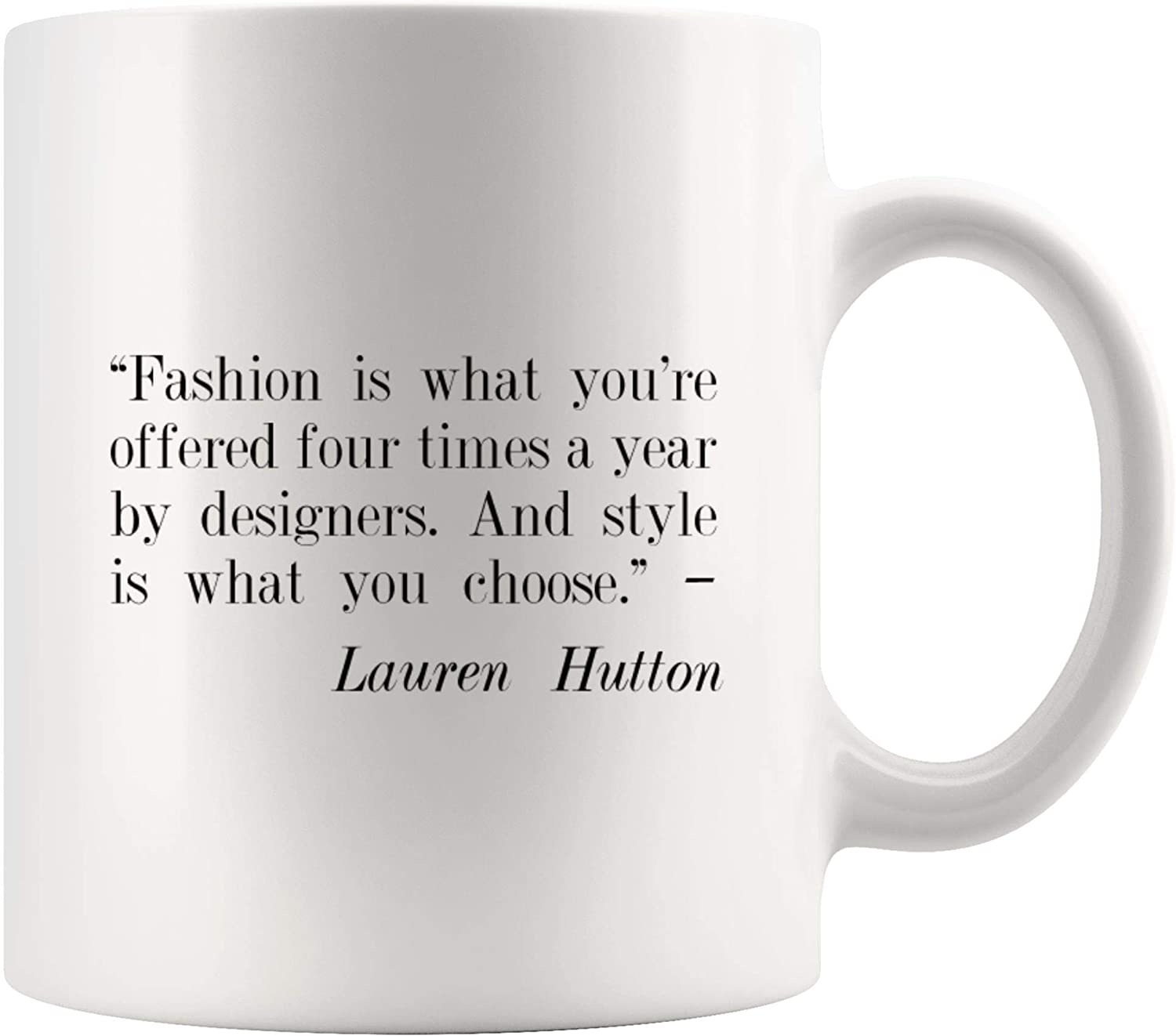 Amazon Com Fashion By Designers Style What Choose Inspirational Coffee Mug Motivational Tea Mugs Work Motivation Motivate Inspired Inspire Cafe Beer Cup Funny Quotes Gratitude Office Men Women Kids Gift Kitchen