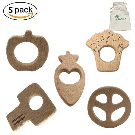 INCHANT 5 piezas diferentes Forma de madera del bebé ...
