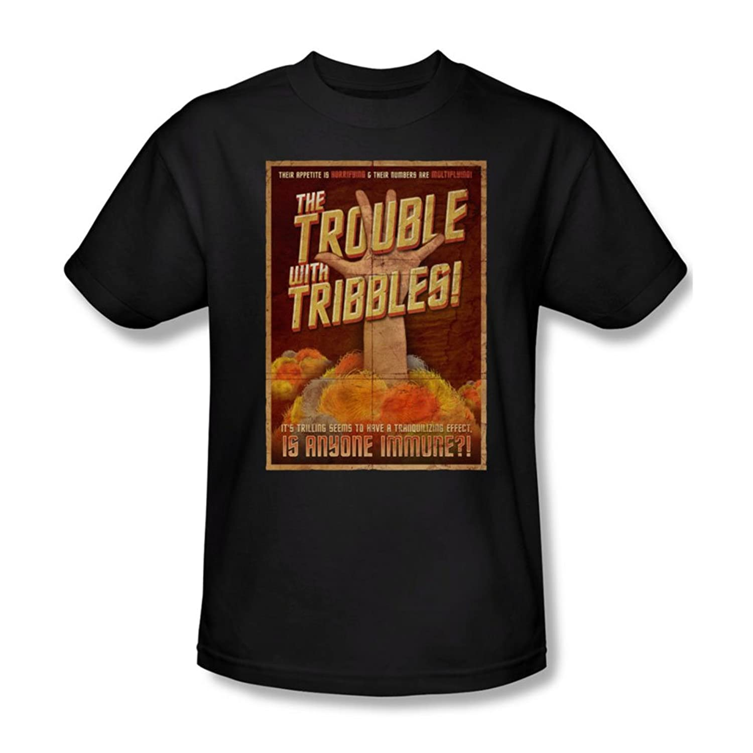 Star Trek - Mens Tribbles: The Movie T-Shirt In Black
