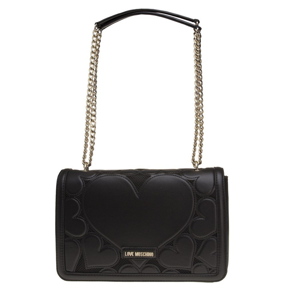 Love Moschino Women's Small Leather Envelope Shoulder Bag Black One Size