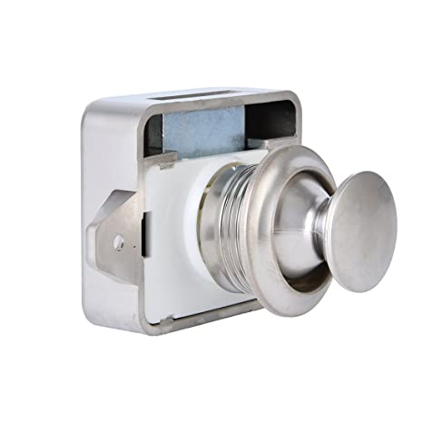 Nickel Cabinet Lock Keyless Push Button Cabinet Latch For Motorhome 11-18 Mm Boat Parts & Accessories