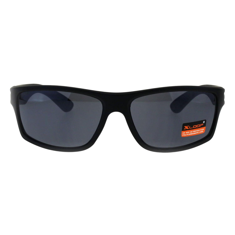 c4e3fc3d1d Classic hombre Xloop - anteojos de de sol anteojos rectangulares de  plástico para hombre Negro mate e06a867