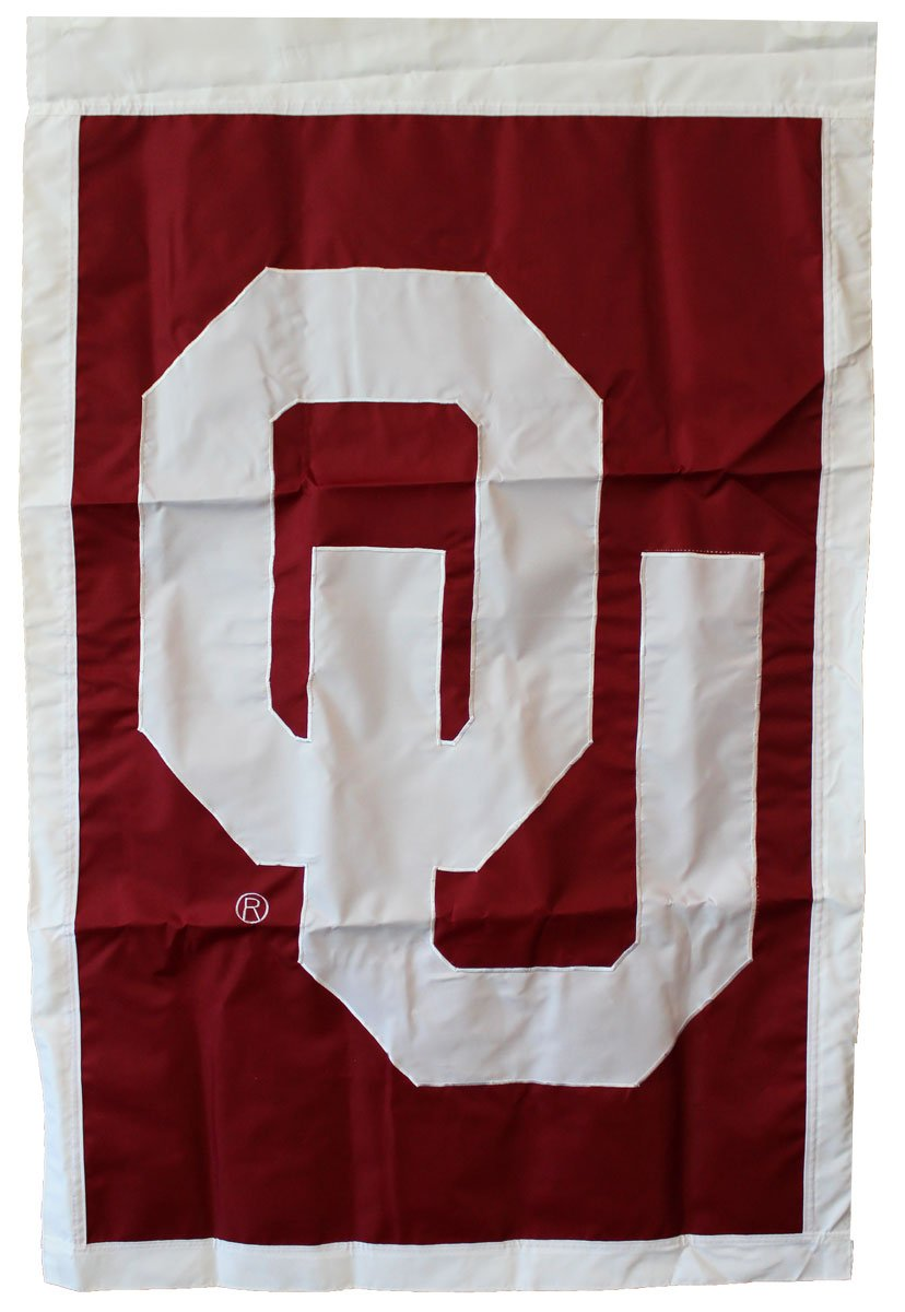 Flagline University of Oklahoma - 28'' x 44'' Double Sided Appliqued NCAA Banner