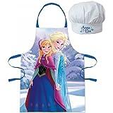 Set cuisine Tablier + Toque Disney Frozen La Reine des neiges enfant 3 à 8 ans cuisinier