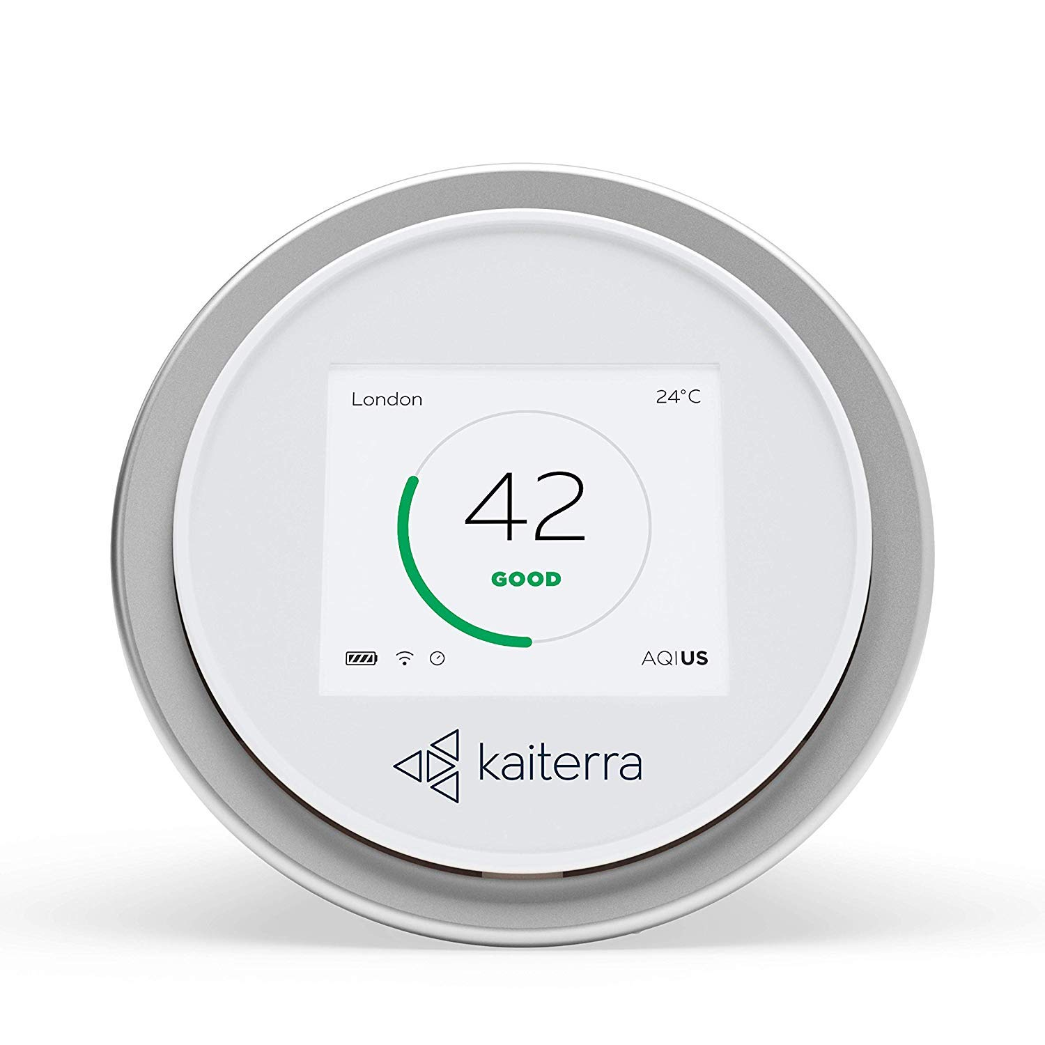 Kaiterra Laser Egg 2 Air Quality Monitor (White) | Accurate Air Check | 8hr Battery Life kida.in