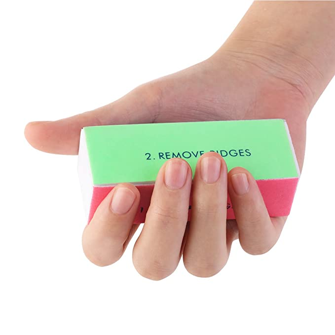 Tinksky 10pcs clavo 4-Way Shiner Lima de uñas uñas tampones esponja ...
