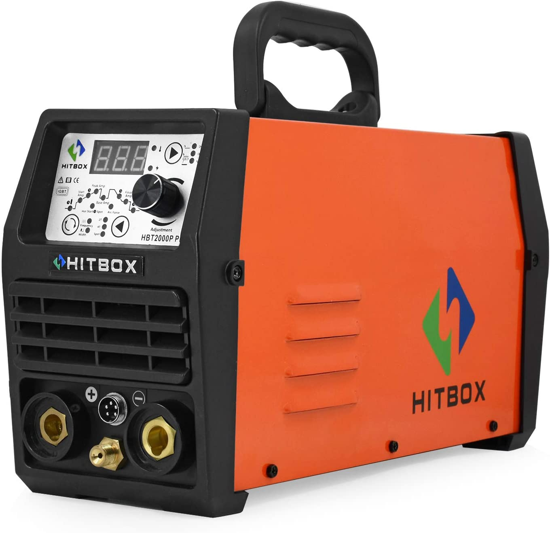HITBOX TIG 200 AC//DC 220V Pulse Inverter Welder Aluminum ARC TIG Welding Machine