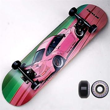 Rueda De Coche De Apoyo Profesional De Skate - Negro - Doble Balancin Cuatro Ruedas De Skate - Skate - Adultos Brush Street: Amazon.es: Deportes y aire ...