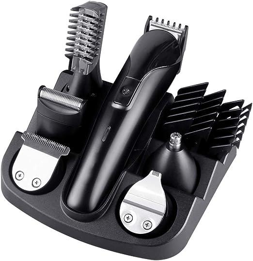 DOLA El Conjunto de Belleza eléctrico Recargable 6 en 1 Incluye cortapelos + recortador de Nariz y Cuerpo + afeitadora de Braun,Negro: Amazon.es: Hogar