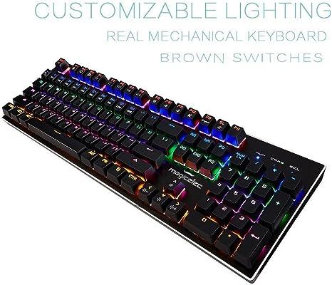 Magicelec tastiera meccanica, USB Gaming tastiera con 104