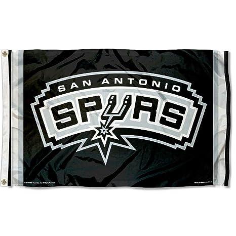ba061aa7f65 Amazon.com   Wincraft NBA San Antonio Spurs Flag 3x5 Banner   Sports    Outdoors