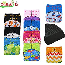 Baby Waterproof AI2 All-in-two Charcoal Bamboo Cloth Diapers Nappies by Ohbabyka