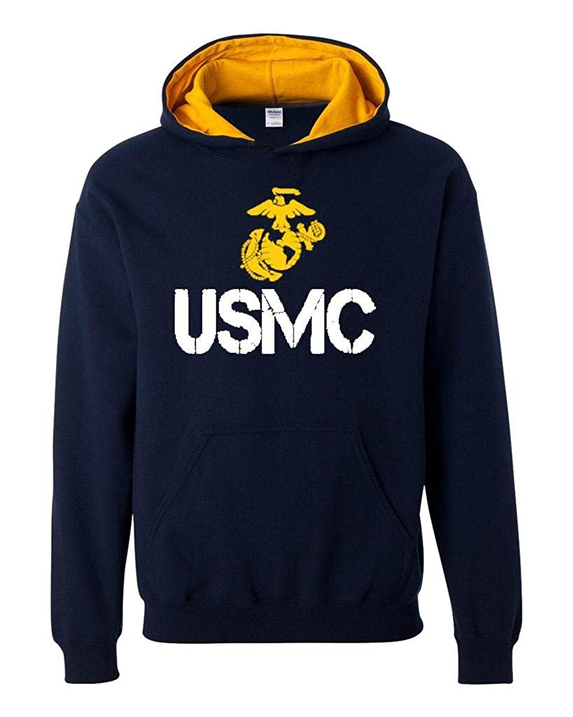 Xekia USMC US Marine Corps Unisex Contrast Color Hoodie