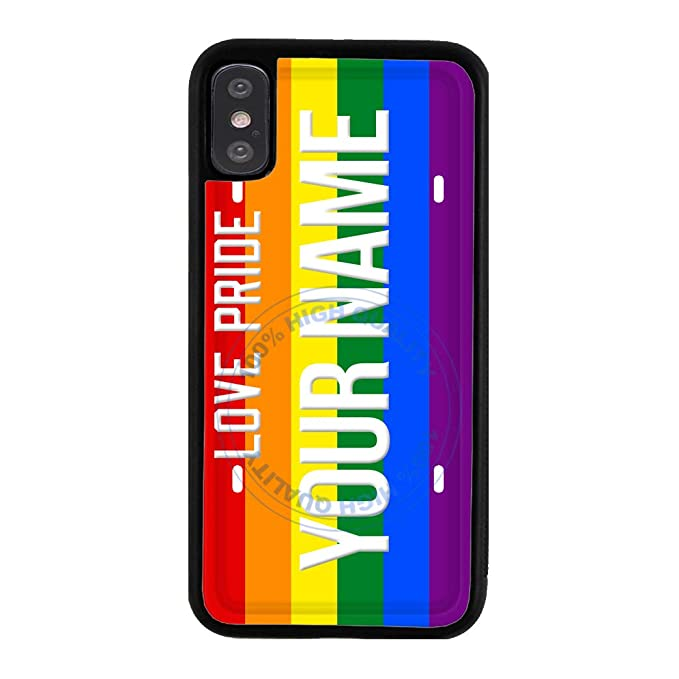 BRGiftShop Customize Your Own LGBT License Plate Rubber Phone Case for  Apple iPhone XR
