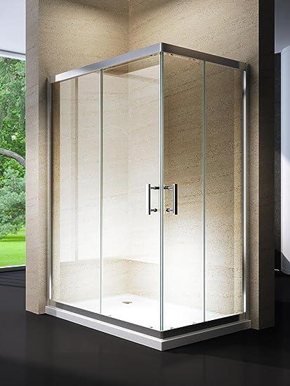 Box Cabina Doccia Bagno.Yellowshop Box Cabina Doccia Bagno Rettangolare Dimensioni 80x120 Cm Cristallo 6mm Trasparente