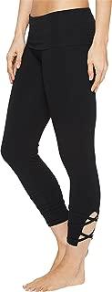 product image for Hard Tail Women's Contour Rolldown Wrap Around Capri Leggings Black Pants