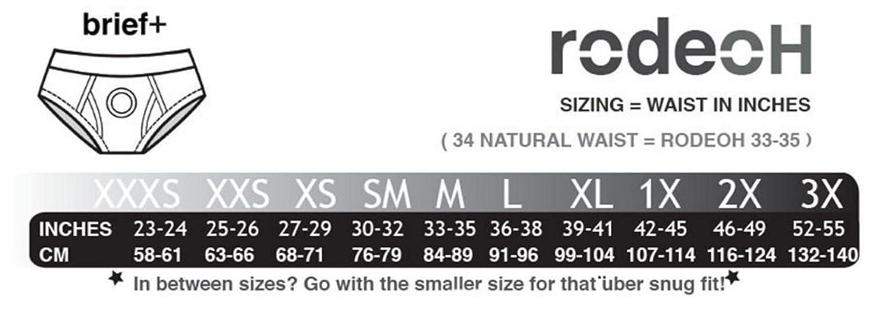 RodeoH 2.5 Brief Black Harness Packer Underwear