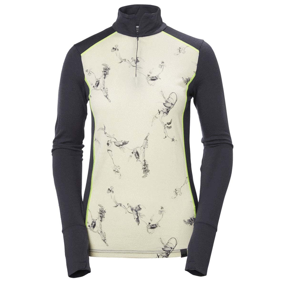 Helly Hansen W Hh Merino Mid Graphic 1//2 Zip