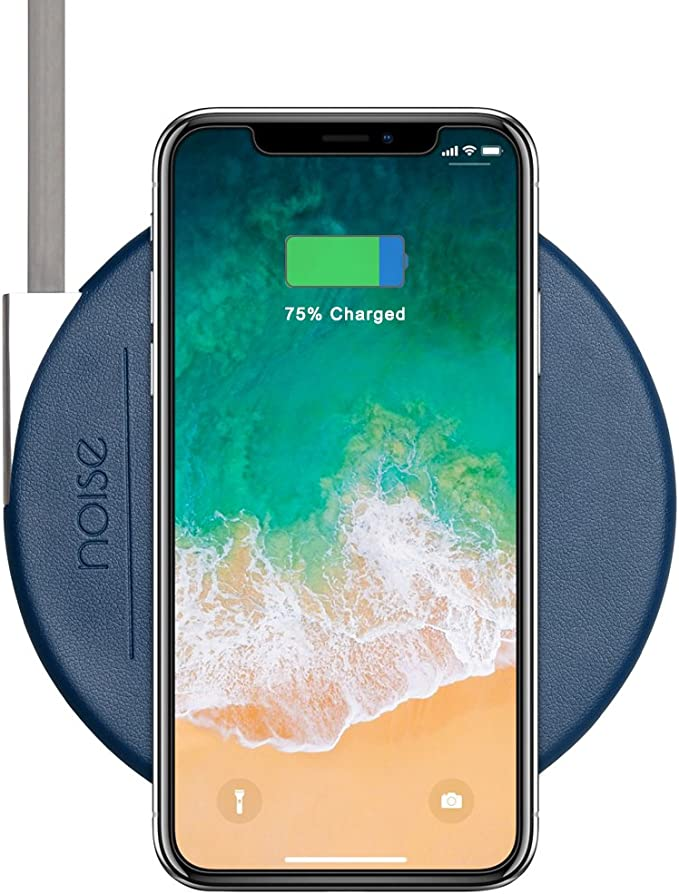 Noise MA WC SLIM005 STD BLU Fast Wireless Charging Pad  Cobalt Blue  Mobile Phone Induction Chargers