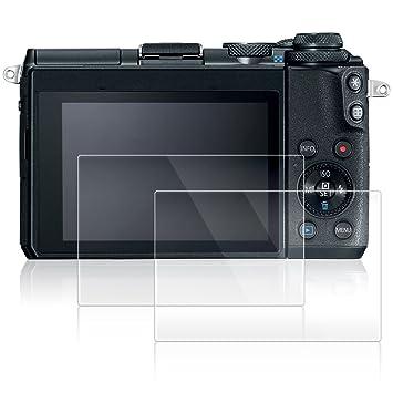 AFUNTA Protectores de Pantalla para Canon EOS M6, 2 Pack Películas ...