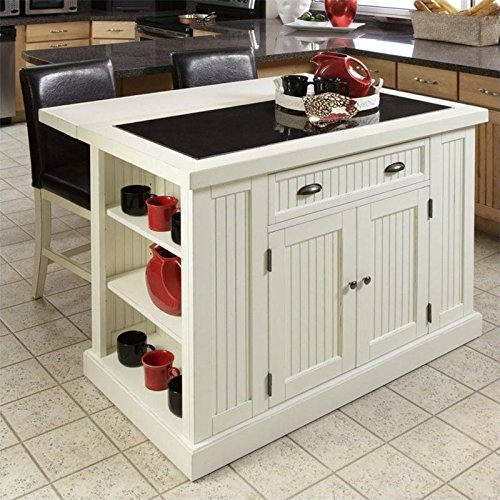 Home Styles 5022-949 Nantucket Kitchen Island and Stools,