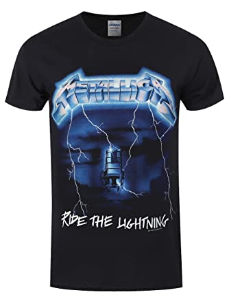 e33fadf6 Metallica Ride The Lightning T-Shirt Black: Amazon.co.uk: Clothing