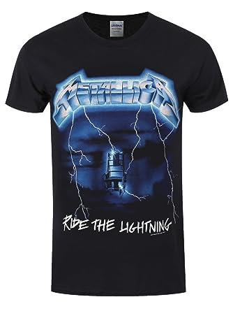 6e5b774f587 Metallica Ride The Lightning T-Shirt Black  Amazon.co.uk  Clothing