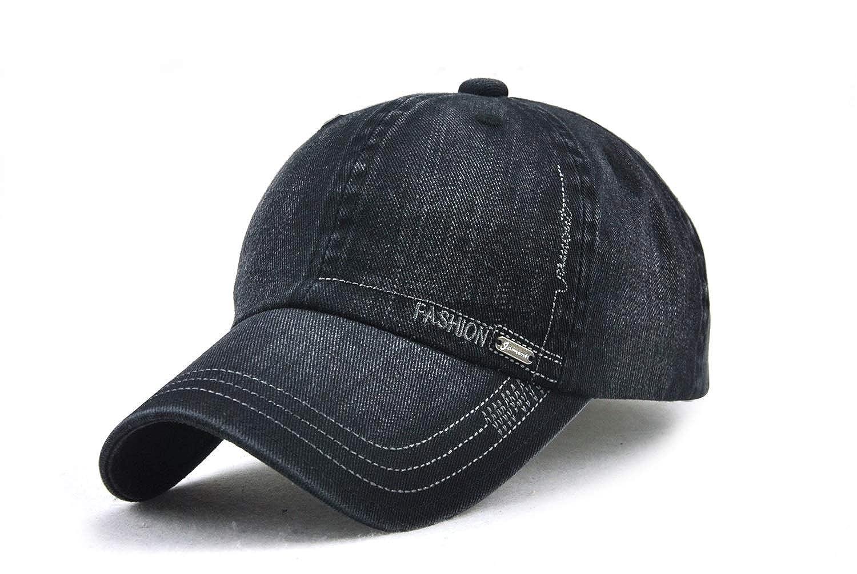 JAMONT Gorra de béisbol de algodón Unisex Snap Back Edge Sun Hat ...