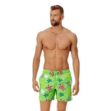 343fffad64 Vilebrequin Men's Multicolor Turtles Swimtrunk-XS, Grass Green
