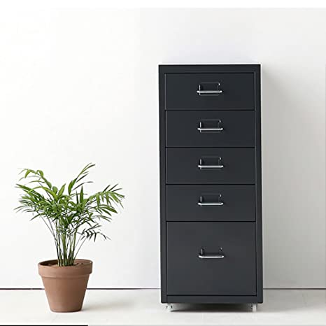 Amazon.com: IKAYAA Office Steel File Cabinet 5 Drawers Detachable Mobile Metal Storage Cabinet with 4 Casters Office, Bedroom, Living Room Furniture: Home & ...