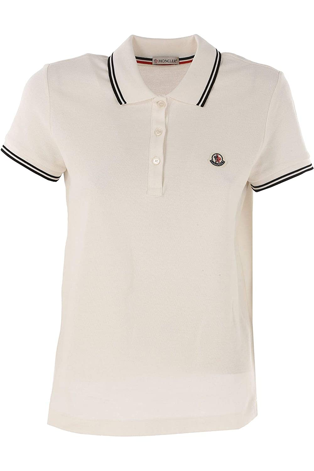 Moncler Women's 838600084667034 White Cotton Polo Shirt