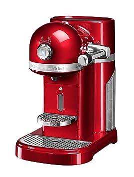 KitchenAid Artisan Nespresso Independiente Semi-automática Máquina espresso 1.4L Rojo - Cafetera (Independiente