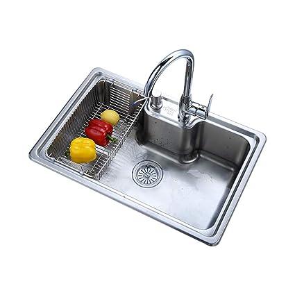Amazon.com: Kitchen Sink Vegetable Washing Basin Single Slot ...